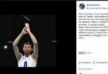 Buti, l'addio al volley su Facebook